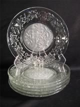 PRINCESS HOUSE FANTASIA CLEAR AND FROSTED GLASS SALAD / LUNCHEON PLATES ... - $58.00