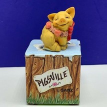 Pigsville by Ganz pig figurine nib box 1995 vintage sculpture resin Sweetheart - $29.65