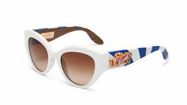 NEW DOLCE & GABBANA Sicilian Carreto 4278 White Brown Wood Sunglasses DG... - $176.42