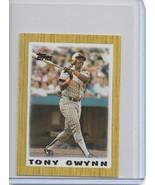 1987 Topps Baseball League Leaders Mini Tony Gwynn Card # 35 San Diego P... - $1.00