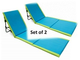Beach Lounge Chair Portable Ocean Sand Mat Camping Sleeping Sunbathing B... - €115,49 EUR