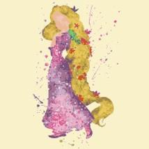 counted cross stitch pattern princess rapunzel watercolor 121*203stitche... - $3.99