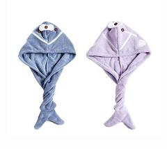 2 Packs Cute Hair Drying Towel Microfiber Hair Turban Absorbent Water, B... - $20.35