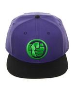Avengers Endgame Hulk Logo Colorblock Snapback Hat Nwt - $21.75