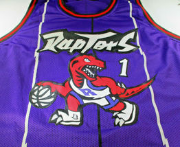 TRACY MCGRADY / NBA HALL OF FAME / AUTOGRAPHED TORONTO RAPTORS CUSTOM JERSEY COA image 2