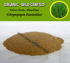 POWDER Vetiver Roots Khus Khus Chrysopogon Zizanioides Organic Wild Crafted - $7.85+