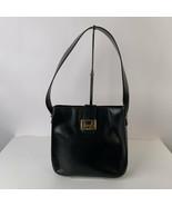 Authentic Celine Vintage Black Leather Carriage Tote Shoulder Bag - $292.05