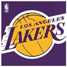 Amscan Los Angeles Lakers Basketball - Lunch Napkins (16) - $10.85