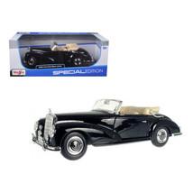 1955 Mercedes 300S Cabriolet Black 1/18 Diecast Car Model by Maisto 31806bk - $47.20