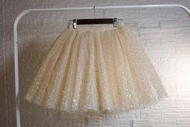 Women Girl Sparkle Tulle Skirt Mini Tulle Skirt A-line Red White Pink Gray image 6