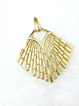 CROWN TRIFARI MODERNIST GOLD TONE PENDANT Brushed and Polished Finish.  - $14.85