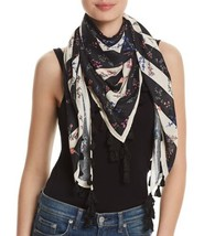 Rebecca Minkoff Pressed Flowers Scarf (One Size, Black) - £39.66 GBP