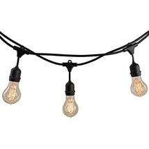 Bulbrite 810007 String10/E26/Black-NOSA19KT Indoor & Outdoor String Ligh... - $51.93