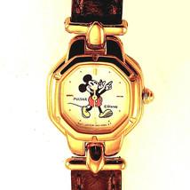 Mickey Disney, Seiko Pulsar Lady Character Watch, Brown T-Bar Leather Ba... - $113.70