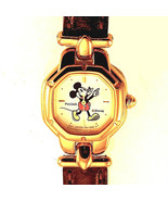 Mickey Disney, Seiko Pulsar Lady Character Watch, Brown T-Bar Leather Ba... - $113.70