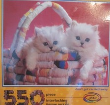 Don't Get Carried Away Jigsaw Puzzle 550 Pc Kittens in Basket by Ceaco N... - $22.76