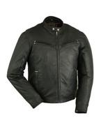 Men's Lightweight Rider Drum Dyed Naked Lambskin Biker Jacket Motorcycle... - $239.95