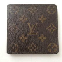 Vintage, Authentic Louis Vuitton Brown Mono Mens Wallet 4in x 4in (CA1912) - $185.20