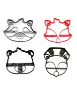 Woodland Creature Forest Animals Faces Set of 4 Cookie Cutters USA PR1590 - $10.99
