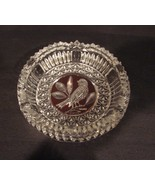 Hofbauer Crystal Byrdes Collection: Ruby 7 Inch Ashtray Hard to Find - $30.00