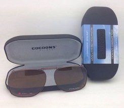 COCOONS Amber Polarized Sunglasses/Eyeglasses Over Rx Clip-on SQR 1-54 B... - $49.95