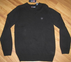 New Chaps Knit Sweater Cotton Black 100% Cotton Large L Lrg Lg $69.50 Knitted - $25.23