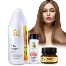 PURE 12% Brazilian Keratin 1000ml Hair Straightening Repair Treatment + Gifts - $74.95