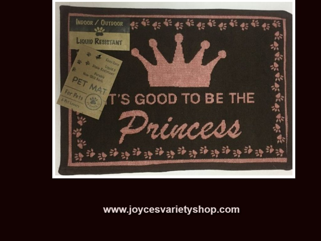 Dog mat princess web collage