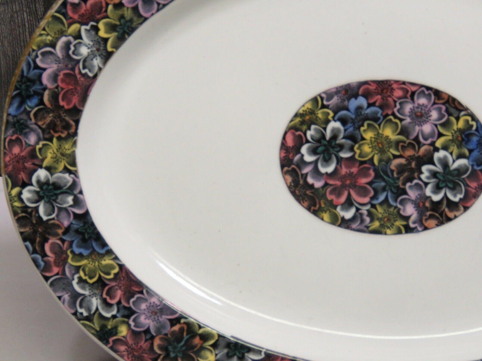 "Antique Royal Worcester for Tiffany & Co Imari Floral Oval Platter 11 5/8"""