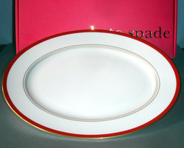 """kate spade New York Jemma Street Oval Platter 13"""" Red Banded USA New In Box - $89.90"""