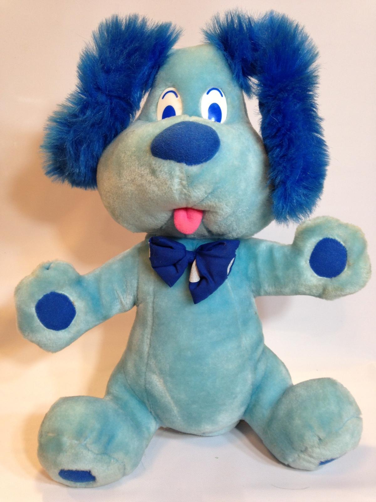 goffa vintage plush blue dog puppy pooch 16 inch stuffed animal hound bow tie vintage. Black Bedroom Furniture Sets. Home Design Ideas