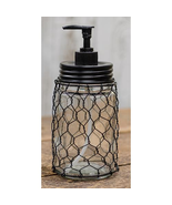 Country Kitchen Bath Chicken Wire Soap Dispenser - $23.00