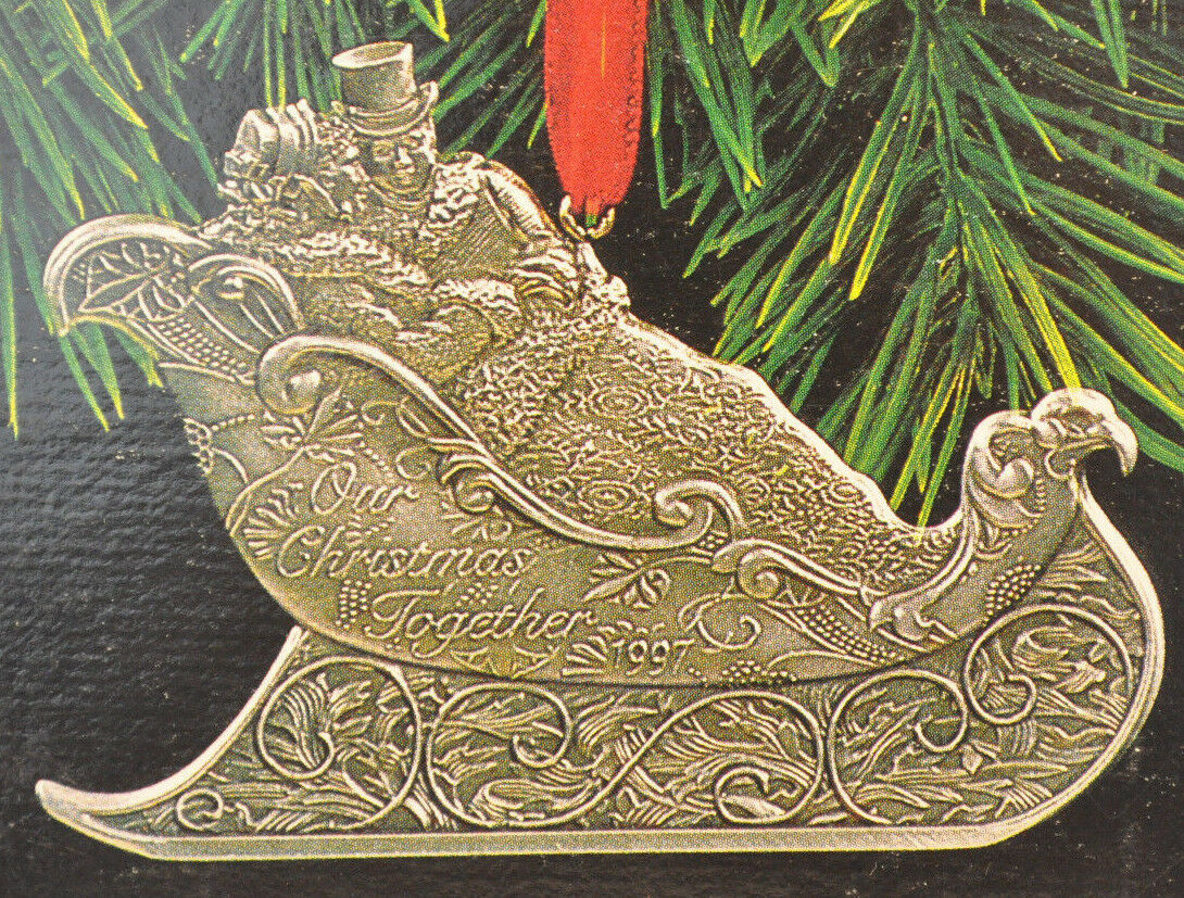 Hallmark - Our Christmas Together - Sleigh Ride - Medial 1997 Keepsake Ornament