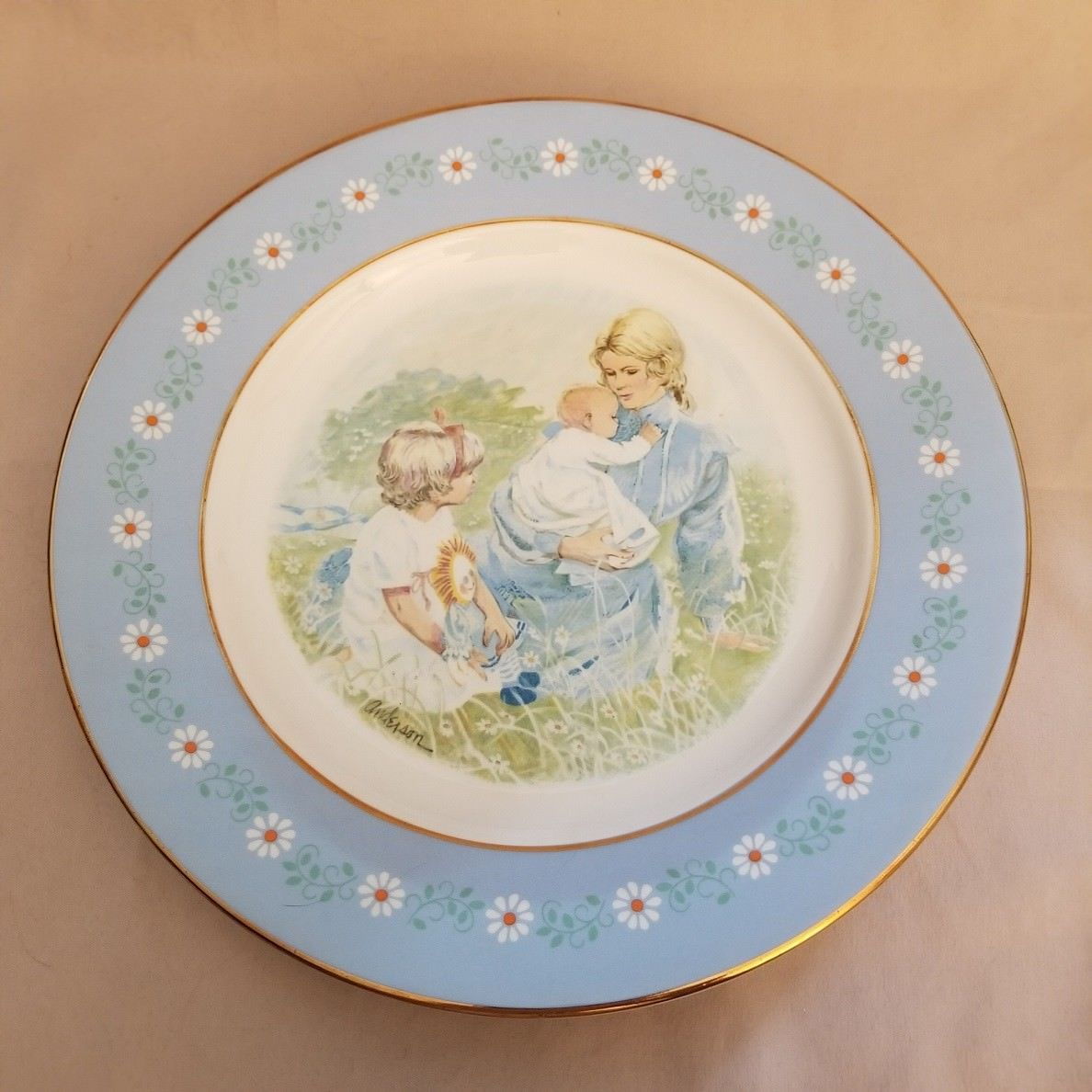 VINTAGE 1974 Collector Plate Tenderness Avon Commemorative Pontesa Ironstone