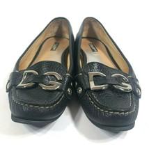 Dolce & Gabbana Womens 7 M Black Leather DG Monogram Metal Bit Driving M... - $56.10
