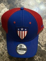 Marvel's Captain America New Era 39Thirty Vintage Shield Logo L/XL Fitte... - $29.69