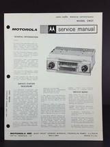 Motorola Checker Motors Auto Radio Service Manual Model CM2T - $14.84