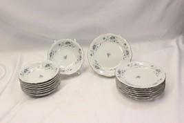 Johann Haviland Blue Garland Fruit Bowls Bread Plates Lot of 16 - $42.13