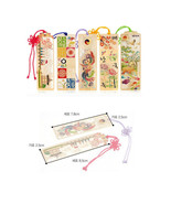 decoration with gold 5 pieces Korean style bookmark made in korea - $28.59