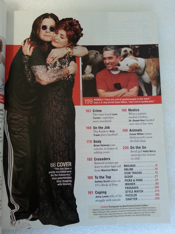 People Magazine 2002 December 9 Ozzy Osbourne Family Michael Jackson Lisa Marie
