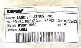 LOT OF 4 NEW OMV RV00100080 SHIMS image 3