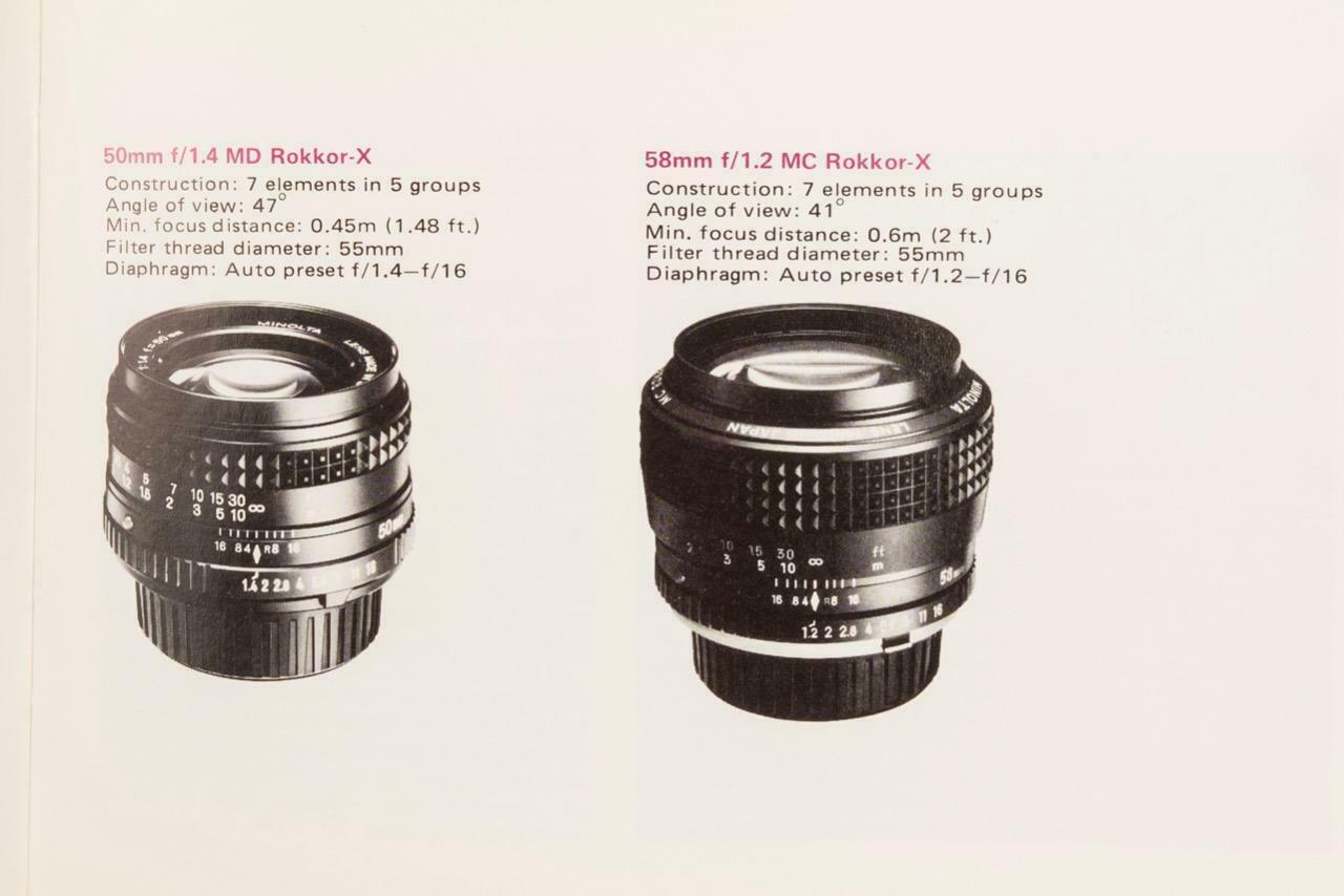 Vintage Minolta Camera Lens Catalog mjb