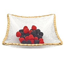 """TDG-221-4512822912714 7"""" Hand decorated Edge Gold Leaf Square Candy or S... - $62.54"""