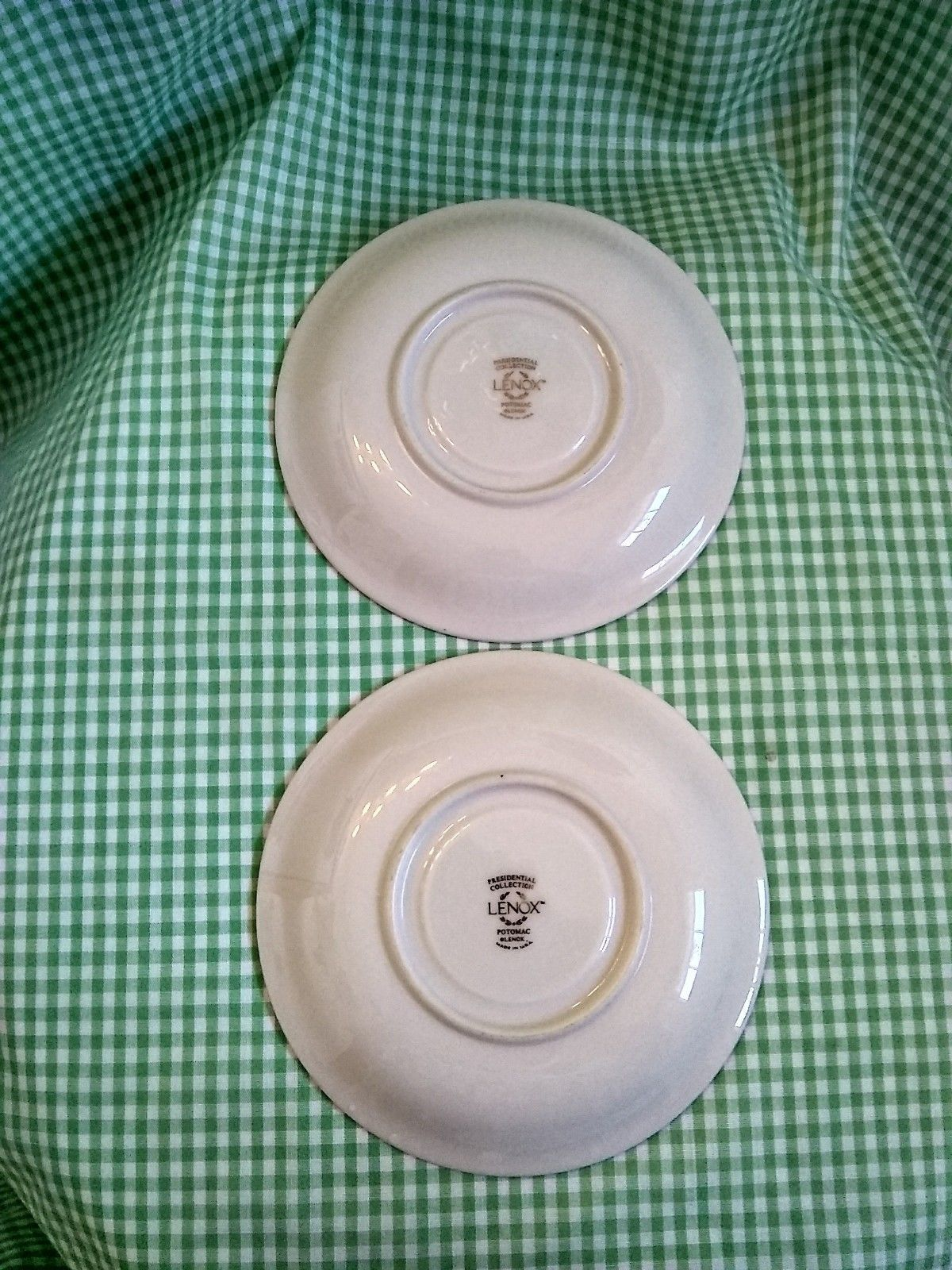 2 Lenox Potomac Saucers Presidential Collection Free US Shipping