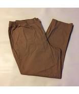 Woman Within Pants Brown Sugar Straight Leg Pockets Cotton Blend Size 22W - $30.00