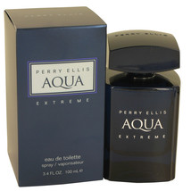 Perry Ellis Aqua Extreme by Perry Ellis Eau De Toilette Spray 3.4 oz for... - $34.95