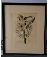 Alice Huertas,Title:Aline and Alain,Illustration,Watercolor,Vintage,Sign... - $50.00
