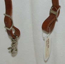 Pioneer Horse Tack 3577 Rolled Leather Roping Rein light Tan Color image 2