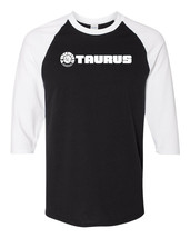 Taurus Firearms Script White Logo Raglan Baseball T Shirt Gun Rights Bla... - $19.79+