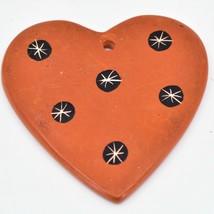 Tabaka Chigware Hand Carved Kisii Soapstone Orange Heart Christmas Tree Ornament image 2